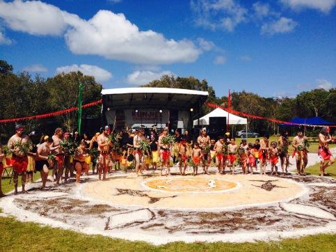 Dancers at Kunjiel Corroboree